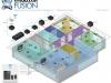 Command Fusion - Przykładowy schemat - kondygnacja 1
